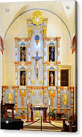 Retablo Mission San Jose Acrylic Print by Christine Till