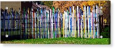 Acrylic Print featuring the photograph Retired Skis  by Jackie Carpenter