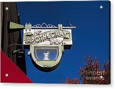 retro Apothecary shop sign Acrylic Print