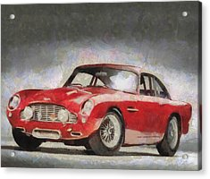 Retro Aston Martin Db5 1963-1965 Acrylic Print