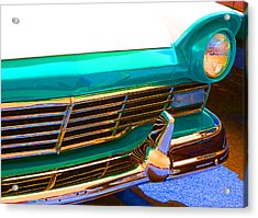 Retro Auto One Acrylic Print by Denise Beverly
