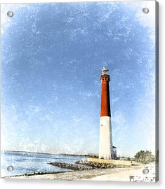 Retro Barnegat Lighthouse Barnegat Light New Jersey Acrylic Print by Marianne Campolongo