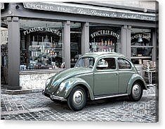 Retro Beetle Acrylic Print by Olivier Le Queinec