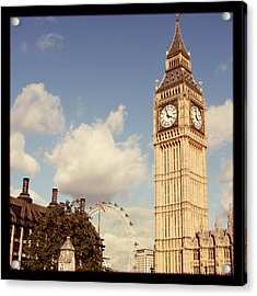 Retro Big Ben Acrylic Print by Heidi Hermes