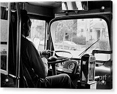 Retro Bus Driver Acrylic Print