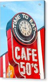 Retro Cafe Acrylic Print