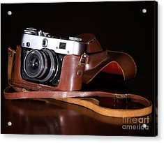 Retro Camera Acrylic Print by Sinisa Botas