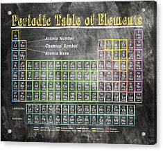 Retro Chalkboard Periodic Table Of Elements Acrylic Print