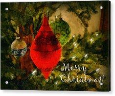 Retro Christmas Acrylic Print by Michelle Calkins