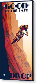 Acrylic Print featuring the painting Retro Cycling Fine Art Poster Good To The Last Drop by Sassan Filsoof