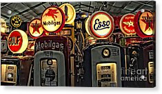 Retro Gas Pumps Acrylic Print