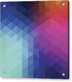 Retro Hexagon Abstract Background Acrylic Print by Mustafahacalaki