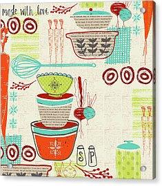 Retro Kitchen Acrylic Print by Katie Doucette