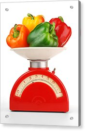 Retro Kitchen Scale Acrylic Print by Jim Hughes