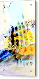 Acrylic Print featuring the digital art Retro Reflections by Christine Ricker Brandt