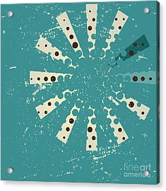 Retro Style Abstract Background Design Acrylic Print by Ashley Van Dyck