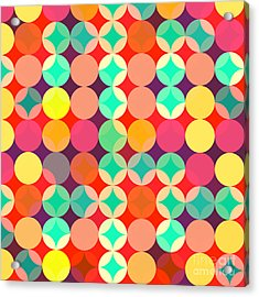 Retro Style Abstract Colorful Background Acrylic Print