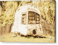 Retrod The Comic Caravan Acrylic Print by Jorgo Photography - Wall Art Gallery