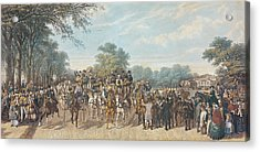 Return From The Derby, 1862 Acrylic Print by John Frederick Herring Snr