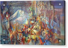 Return To Ararat Acrylic Print by Meruzhan Khachatryan