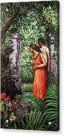 Return To Eden Partial View Acrylic Print by Sandra Bryant