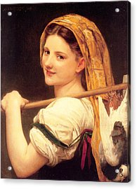 Returned From The Market Acrylic Print by William-Adolphe Bouguereau
