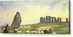 Returning Home     Stonehenge Acrylic Print