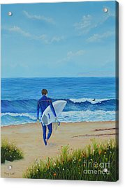 Returning To The Waves Acrylic Print