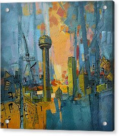 Reunion Tower Acrylic Print by Corporate Art Task Force