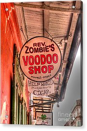 Rev. Zombie's Acrylic Print by David Bearden