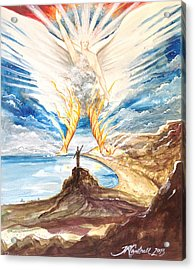 Revelation 10 Angel Acrylic Print by Ron Cantrell