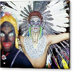 Revellers At Carnival In Rio De Janeiro Acrylic Print