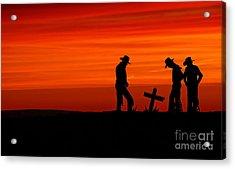Cowboy Reverence Acrylic Print