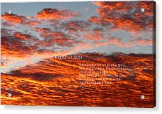 Reverence For Our Lord Acrylic Print by David  Norman
