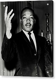 Reverend King Acrylic Print by Benjamin Yeager