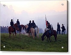 Reviewing The Troops - Perryville Ky  Acrylic Print by Thia Stover