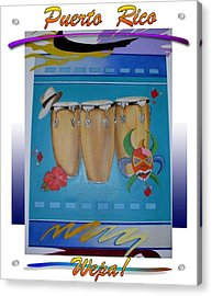 Revised _festive Congas Acrylic Print by Sonia Rodriguez