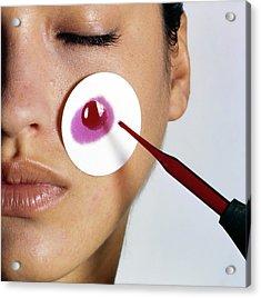 Revlon Moisturizer Skin Adherence Test Acrylic Print
