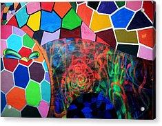 Revolution Pantone Acrylic Print by Laura Jimenez