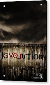 Revolution. The Writings Is On The Wall Acrylic Print by Jorgo Photography - Wall Art Gallery