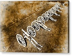 Revolutionary War Cannons Acrylic Print by Olivier Le Queinec