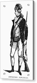 Revolutionary War Rifleman Acrylic Print by Granger