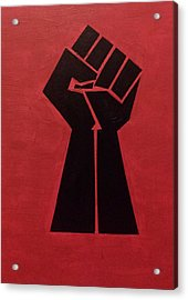 Revolutionist Fist  Acrylic Print by Donald Beasley