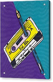 Rewind To The 80s Acrylic Print by Kid 80s