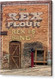 Acrylic Print featuring the painting Rex Is King by Michael Pickett