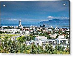 Reykjavik Iceland Panorama Acrylic Print