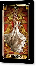 Acrylic Print featuring the drawing Reyne De Coupe by Ciro Marchetti