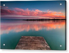 Rgb Sunset Acrylic Print by Davorin Mance