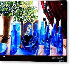 Rhapsody In Blue Acrylic Print by Caroline Street