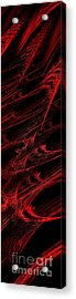Rhapsody In Red V - Panorama - Abstract - Fractal Art Acrylic Print by Andee Design